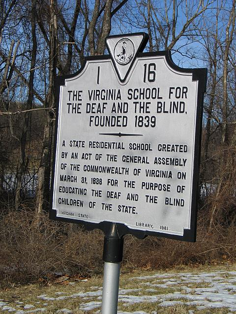 VA-I16 Virgnia School for the Deaf and Blind, Founded 1839