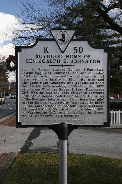 VA-K50 Boyhood Home of Gen. Joseph E. Johnston