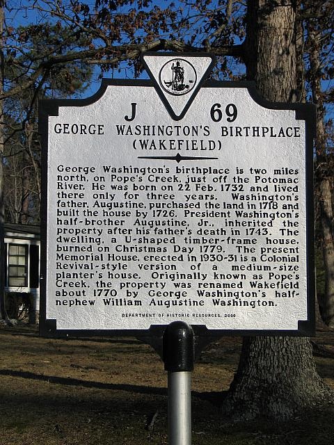 VA-J69 George Washingtons Birthplace (Wakefield)