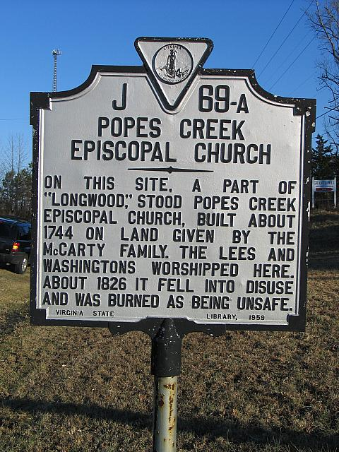 VA-J69A Popes Creek Episcopal Church