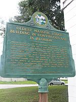 FL-F251 Oldest Masonic Lodge Building in Continuous Use in Florida