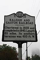 NC-H23 Raleigh and Gaston Railroad