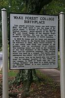 NC-H75 Wake Forest College Birthplace