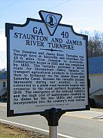VA-GA40 Staunton and James River Turnpike