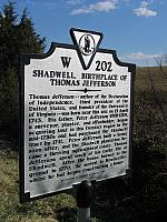 VA-W202 Shadwell, Birthplace of Thomas Jefferson