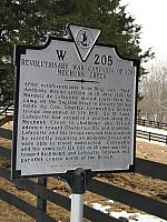 VA-W205 Revolutionary Campaign of 1781 Mechunk Creek