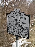 VA-Z194 Alleghany County Virginia