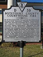 VA-D39 Botetourt County Courthouse Fire