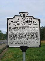 VA-K267 Mary Randolph (9 Aug. 1762 - 23 Jan. 1828)