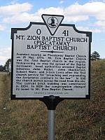 VA-O41 Mt. Zion Baptist Church (Piscataway Baptist Church)