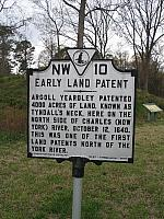 VA-NW10 Early Land Patent