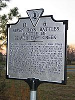 VA-O6 Seven Days Battles Battle of Beaver Dam Creek