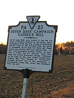 VA-PA23 Seven Days Campaign Gainess Mill