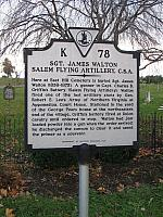VA-K78 Sgt. James Walton Salem Flying Artillery, C.S.A
