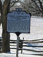 VA-J61 George Washingtons Childhood Home