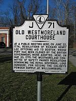 VA-J71 Old Westmoreland Courthouse