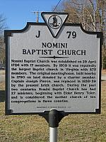 VA-J79 Nomini Baptist Church